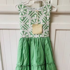 NWT Well Dressed Wolf Daydream 5 Green White Dress